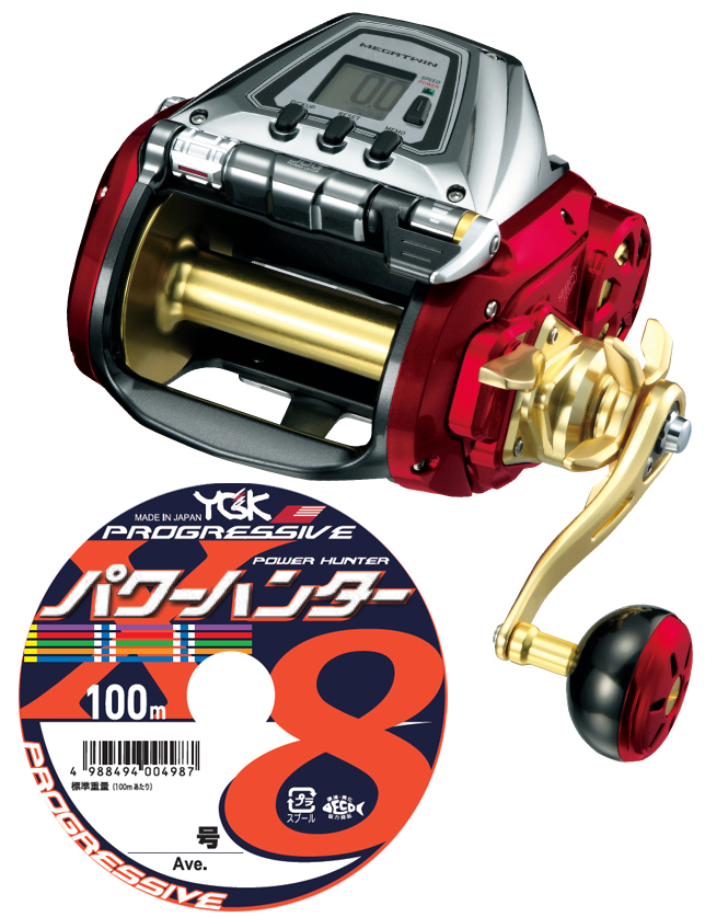 【送料無料】 ダイワ(daiwa) シーボーグ 1200MJ PEライン8号1000mセット!(よつあみパワーハンター プログレッシブ) 電動リールに糸を巻いてお届けします!