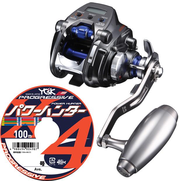 【送料無料】 ダイワ(daiwa) 18 シーボーグ 200J-SJ (右巻) PE1.5号 400mセット!(よつあみパワーハンタープログレッシブ) 電動スロージギング専用モデル