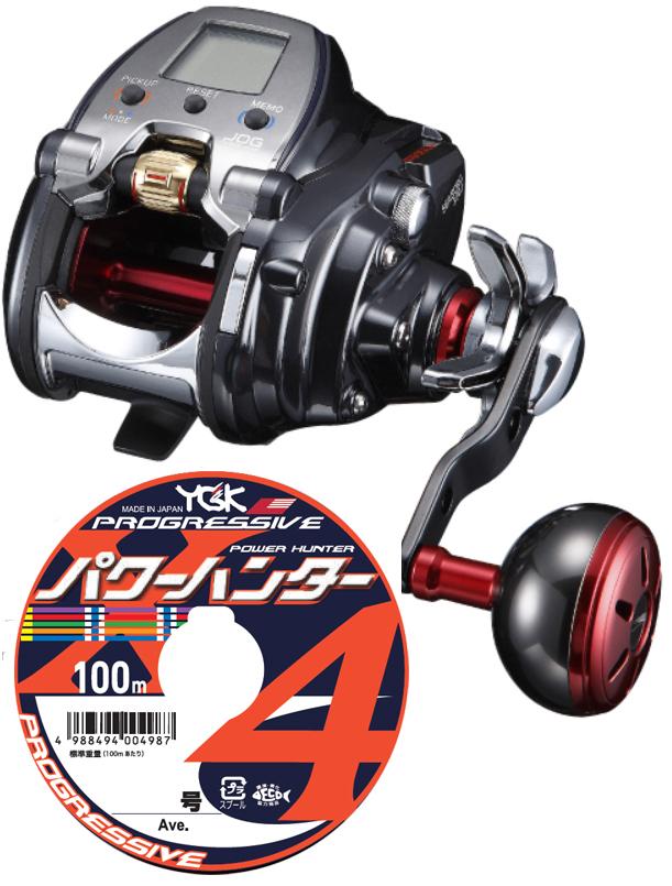 【送料無料】 ダイワ(daiwa) 18 シーボーグ 300J (右巻)PEライン3号400mセット!(よつあみ パワーハンタープログレッシブ) 電動リールに糸を巻いてお届けします!