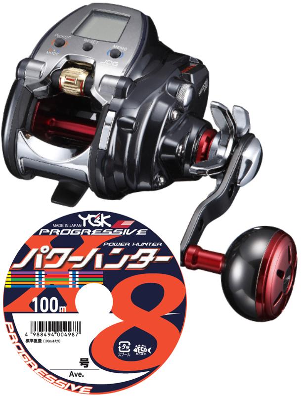 【送料無料】 ダイワ(daiwa) 18 シーボーグ 300J (右巻)PEライン5号200mセット!(よつあみ パワーハンタープログレッシブ) 電動リールに糸を巻いてお届けします!