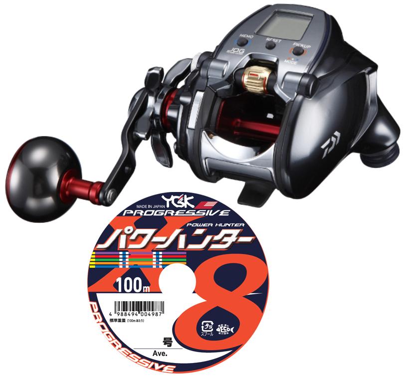 【送料無料】 ダイワ(daiwa) 18 シーボーグ 300JL (左巻)PEライン5号200mセット!(よつあみ パワーハンタープログレッシブ) 電動リールに糸を巻いてお届けします!