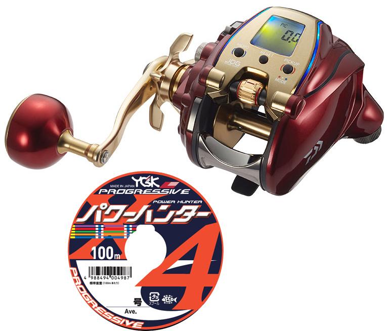 【送料無料】 ダイワ daiwa 20 シーボーグ 300MJL 左巻 PEライン4号300mセット(よつあみパワーハンタープログレッシブ) 電動リール に糸を巻いてお届けします!
