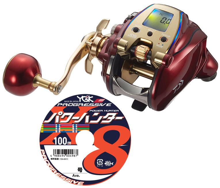 【送料無料】 ダイワ daiwa 20 シーボーグ 300MJL 左巻 PEライン5号200mセット(よつあみパワーハンタープログレッシブ) 電動リール に糸を巻いてお届けします!