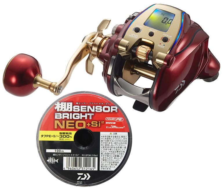 【送料無料】 ダイワ daiwa 20 シーボーグ 300MJL 左巻 PEライン3号400mセット(棚センサーブライトネオ) 電動リール に糸を巻いてお届けします!