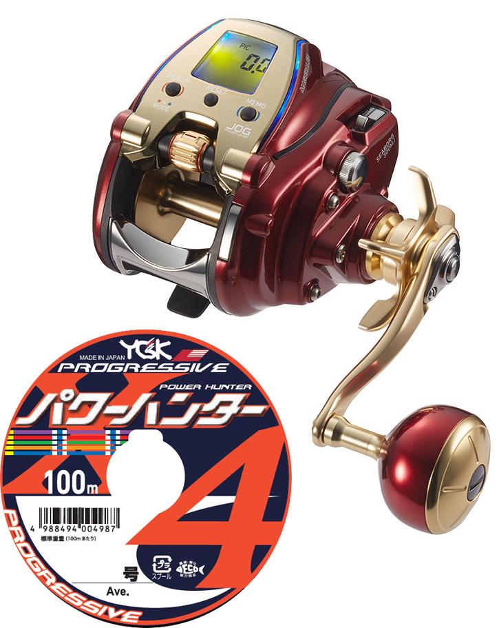 【送料無料】 ダイワ daiwa 20 シーボーグ 300MJ 右巻 PEライン4号300mセット(よつあみパワーハンタープログレッシブ) 電動リール に糸を巻いてお届けします!