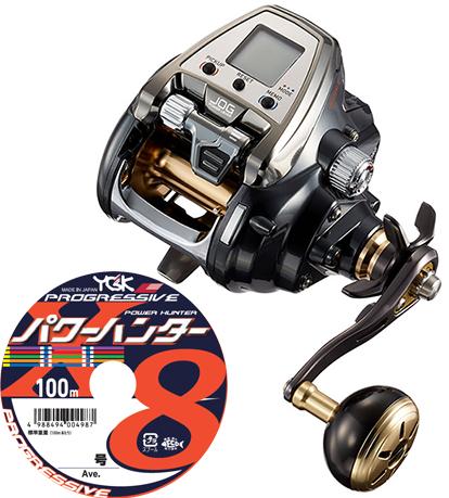 【送料無料】 ダイワ(daiwa)19 シーボーグ 500JP パワーモデル PEライン6号300mセット!(よつあみ パワーハンター プログレッシブ) 電動リールに糸を巻いてお届けします!