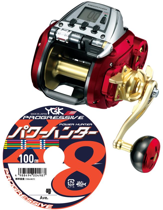 【送料無料】 ダイワ(daiwa) シーボーグ 800MJ PEライン12号400m(よつあみパワーハンター プログレッシブ) 電動リールに糸を巻いてお届けします!