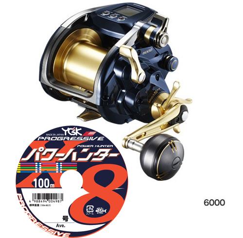 【送料無料】 シマノ (shimano) 19 ビーストマスター 6000PEライン8号600mセット (よつあみパワーハンター プレグレッシブ) 電動リールに糸を巻いてお届け