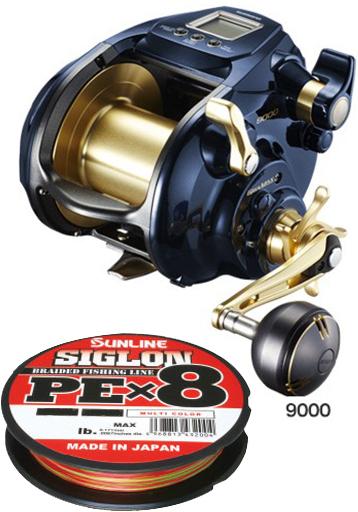 【送料無料】 シマノ (shimano) 19 ビーストマスター 9000 PEライン 10号700mセット!(サンライン シグロン PE X8) 電動リールに糸を巻いてお届けします!