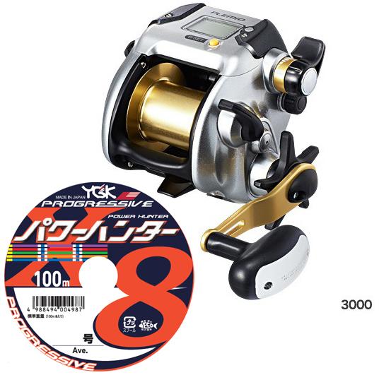 2015 シマノ(shimano) プレミオ (PLEMIO) 3000 PEライン5号300m(よつあみパワーハンター プログレッシブ)セット! 電動リールに糸を巻いてお届けします!