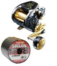 【送料無料】 シマノ(shimano) ビーストマスター3000XS (スピードモデル) PEライン4号400mセット!(サンライン シグロン PE X8) 電動リールに糸を巻いてお届けします!