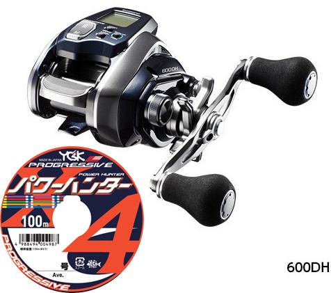 【送料無料】シマノ(shimano) 18 フォースマスター 600DH PEライン3号200mセット!(よつあみ パワーハンタープログレッシブX4) 電動リールに糸を巻いてお届けします!