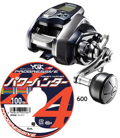 【送料無料】シマノ(shimano) 18 フォースマスター 600 PEライン3号200mセット!(よつあみ パワーハンタープログレッシブX4) 電動リールに糸を巻いてお届けします!