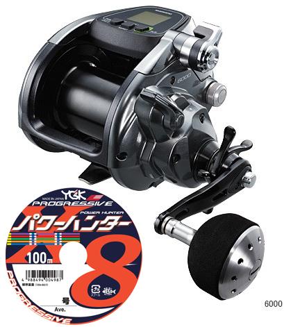 【送料無料】 シマノ(shimano)フォースマスター 6000 PEライン 12号400m(よつあみパワーハンター プログレッシブ)セット! 電動リールに糸を巻いてお届けします!