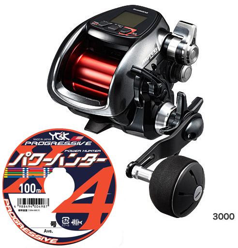 【送料無料】シマノ(shimano) プレイズ 3000[PLAYS 3000]PEライン4号400m(よつあみパワーハンター プログレッシブ)セット! 電動リールに糸を巻いてお届けします!