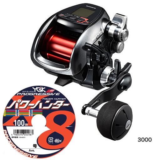 【送料無料】シマノ(shimano) プレイズ 3000[PLAYS 3000]PEライン5号300m(よつあみパワーハンター プログレッシブ)セット! 電動リールに糸を巻いてお届けします!