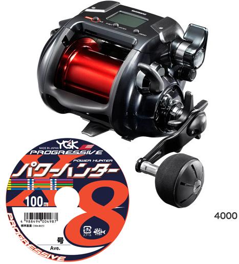 【送料無料】 シマノ (shimano) 17 プレイズ 4000PEライン6号500mセット!(よつあみパワーハンター プログレッシブ) 電動リールに糸を巻いてお届けします!