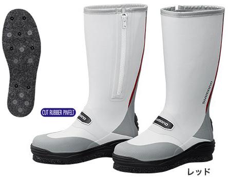 シマノ(shimano) FB-031Q カットラバー ピンフェルトブーツ サイドファスナーで脱ぎ履きしやすいベーシックブーツ