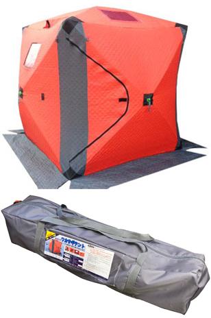 【送料無料】 X'SELL「エクセル」 BB-920 ワカサギテント 150×150cm (1~2人用) ヒモを引くだけのワンタッチ簡単スピード組立!寒冷地仕様