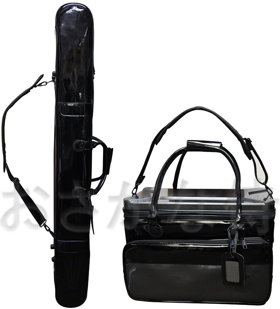 【送料無料】X'SELL「エクセル」 SP-970 へらカバン ロッドケース・バッグ2点セット 大容量3層タイプ
