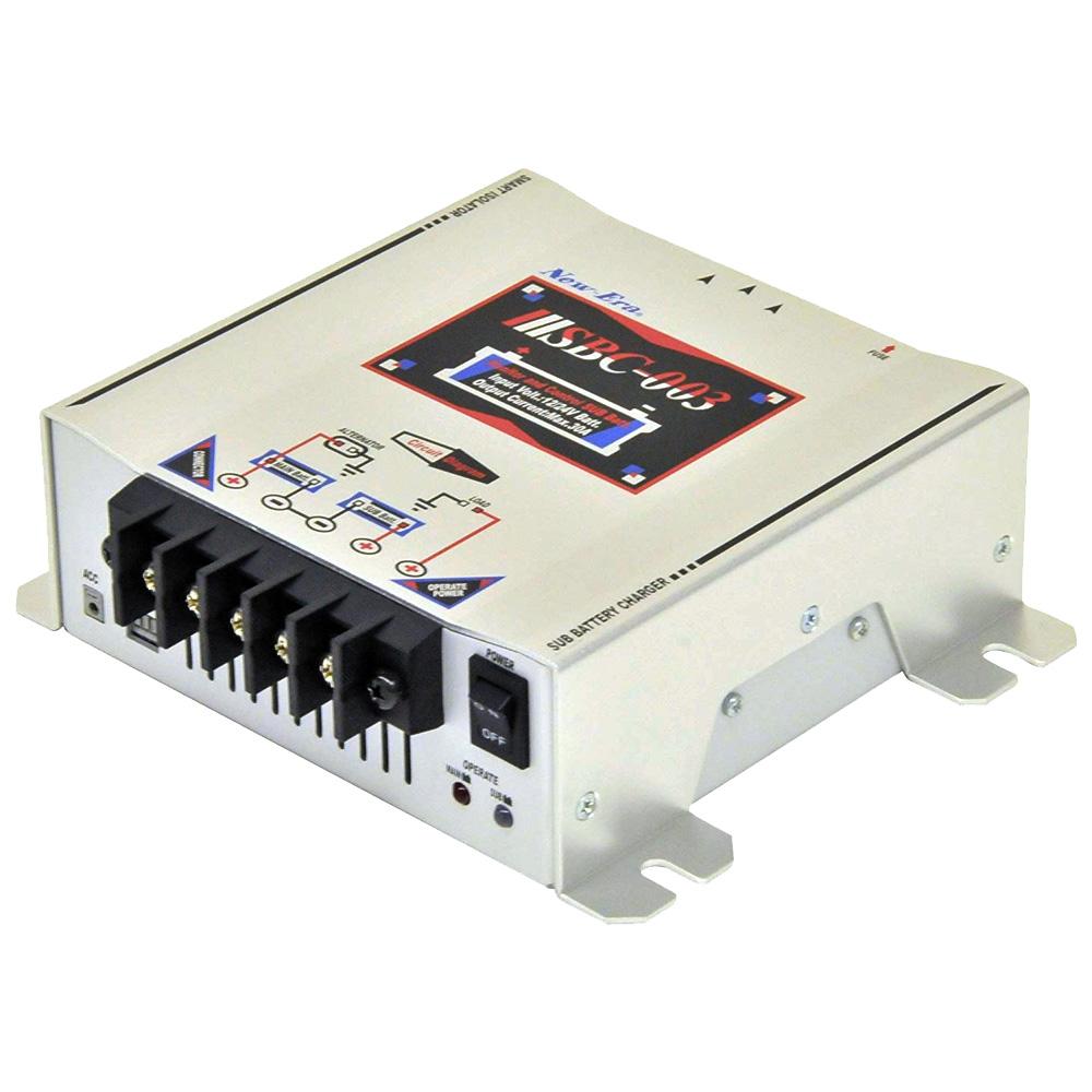 NEW-ERA サブバッテリーチャージャー ニューエラー 走行充電器 バッテリー監視機能/外部リモート接続用 コネクタ標準搭載 SBC-003 プレジャーボート キャンピングカー 電装部品 バッテリー充電 送料無料
