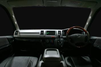 ハイエース 5ピース 黒木目 ダッシュボード貼付パネル 標準 ナロー S-GL インテリアパネル フロント ドア ブラック ウッド調 内装 インテリア パーツ
