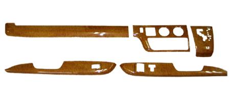 5ピース ウッドインテリアパネル 黄木目 ハイエース 200系 ワイドボデイ用 S-GL 内装 フロント ドア