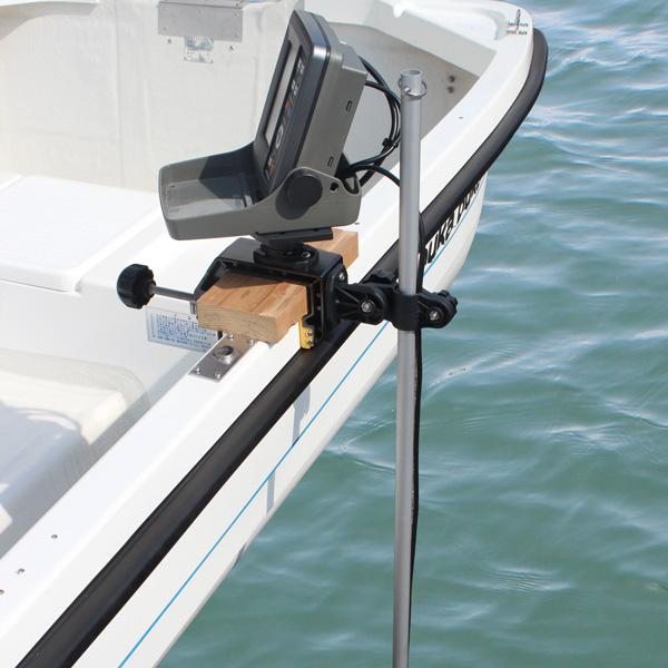BMO JAPAN ステンクランプ式 マルチ魚探マウント&アーム フルセット BM-PCL-SET-CP02 魚群探知 固定 高さ調整