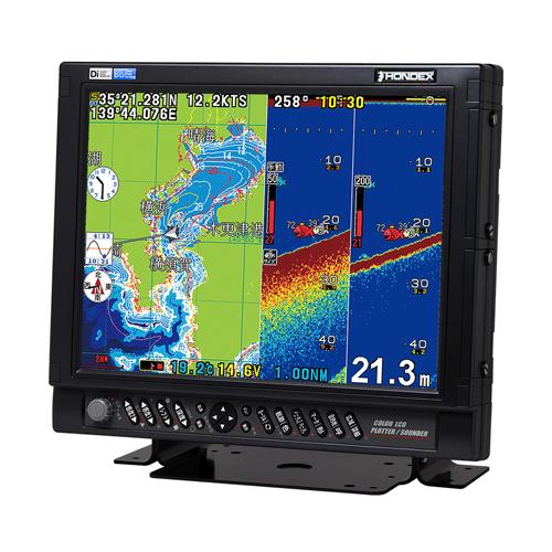15型カラー液晶プロッターデジタル魚探 HE-1511-Di-Bo 1kW DGPS仕様 50&200kHz おさかなサイズ機能対応