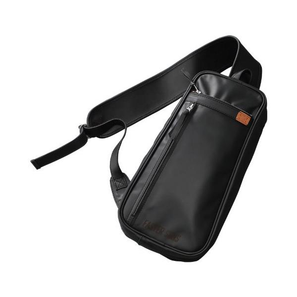 ボディバッグ ブラック FS07 ヤマハ かばん ショルダーバッグ タテ型 かばん 斜めがけ 本革 レザー メンズ