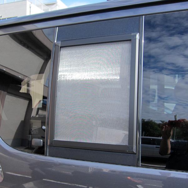 銀黒 カーアミド 車用網戸 ハイエース200系 1,2,3型 1枚 プライバシーネット カーアミド 車中泊 グッズ 虫除け アウトドア キャンプ