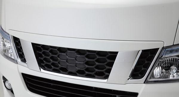 NV350 キャラバン E26 ABSグリルカバー LEGANCE レガンス 外装 フロント バンパー グリル エアロ