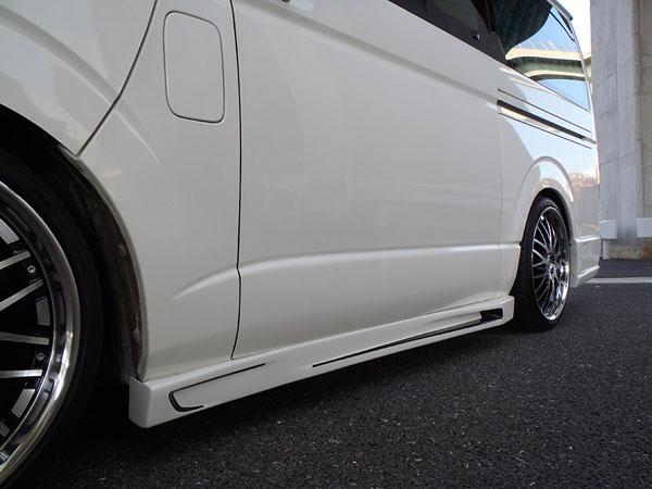 サイドステップ RACING ハイエース 200系 1型 2型 3型 4型 (5型) 前期 後期 標準 ナロー ワイド S-GL W-GL レジアスエース Joker Design ジョーカーデザイン