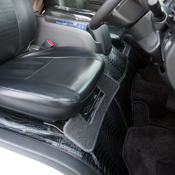 エンジンボンネットカバー デッキカバー フロント リア ハイエース 200系 1型 2型 3型 4型 ワイド用 フロアマット クロコ ヘビ柄 内装 インテリア パーツ