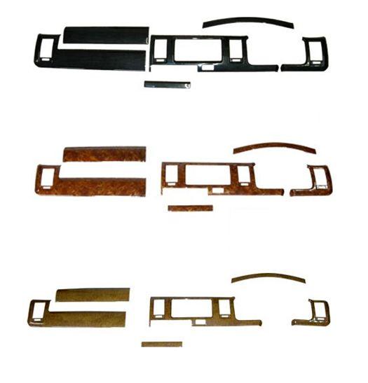 7ピース ウッドインテリアパネル ハイエース標準ナローボディ用 S-GL