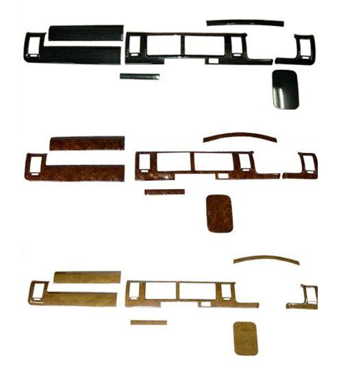 TOYOTA トヨタ HIACE ハイエース 内装 カスタム 200系 インテリアパネル 7ピース インテリア 3型 NEW ARRIVAL 2型 ワイドボディ用 再再販 S-GL パーツ 1型 ウッドインテリアパネル