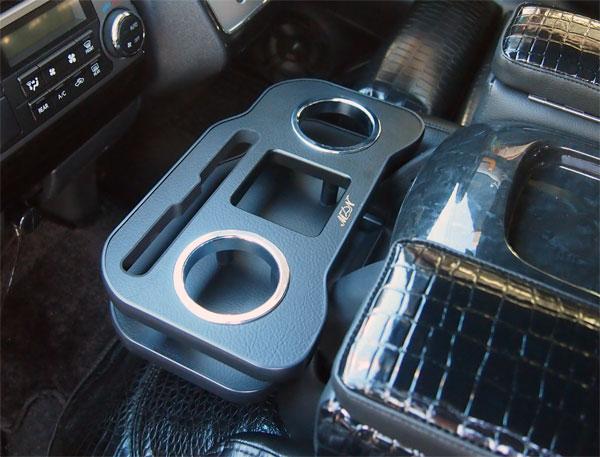 フロントカップホルダー 200系ハイエース ナロー 1,2,3,4型 スマホ 紙パックドリンクホルダー
