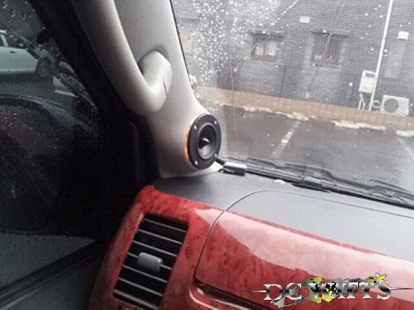 Aピラースピーカーキット LED付 左右セット ハイパスコンデンサー付 200系 ハイエース 1型 2型 3型 4型 ナロー ワイド DCワッツ カーオーディオ サウンド スピーカー カスタム LED 高音質