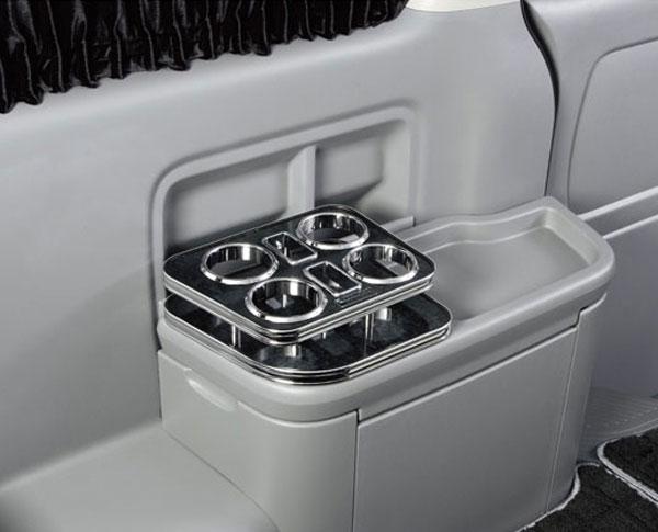 リアコンソールホルダー 200系 ハイエース 1型 2型 3型 4型 ワゴンGL ワイド ドリンク スマホ スタンド 携帯 灰皿 シガレット 小物 置き場 後部席 サイド スタンド 前期 後期 内装 パーツ インテリア