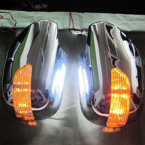 メッキLEDウインカードアミラー S-GL タイプ交換型 ウエルカムライト付 ハイエース 200系