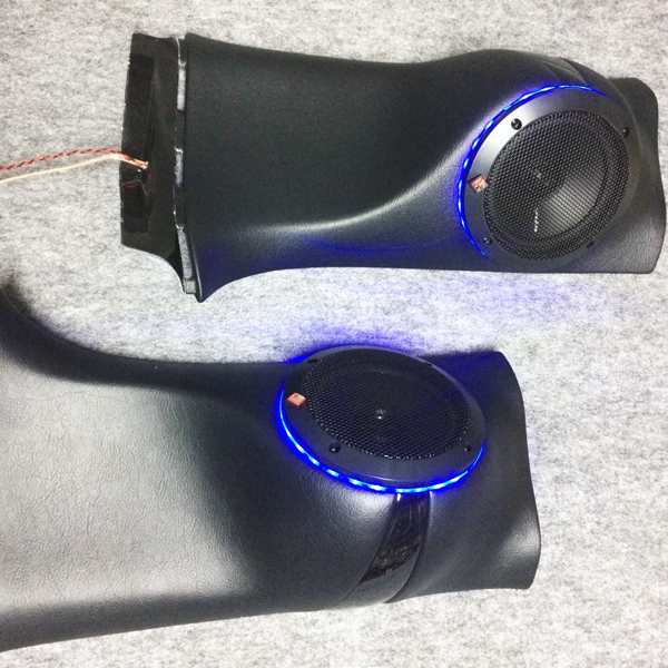 Dピラー スピーカーキット タイプR LED付 左右セット NV350 キャラバン DC WATT'S カーオーディオ