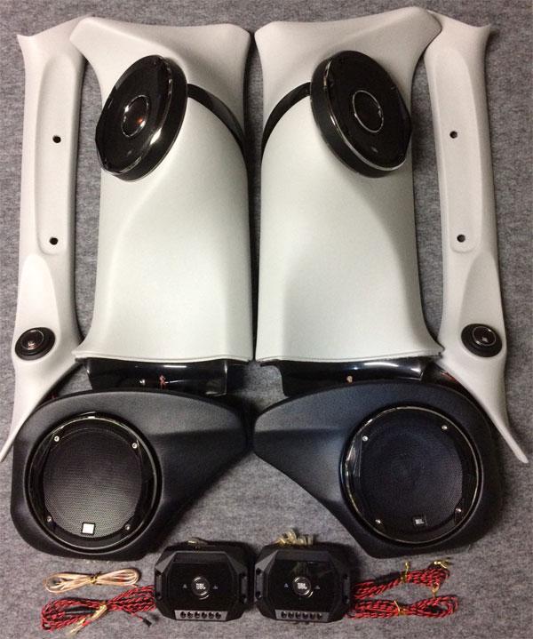 Aピラー+アウターバッフル+Dピラー JBL stadium フルセット 200系 ハイエース 1型 2型 3型 4型 ナロー ワイドミドルルーフ専用 DCワッツ スピーカーキット カーオーディオ