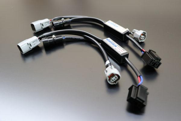 ヘッドライト変換ハーネス 200系 ハイエース 3型 (純正2段HID車両) → 4型 (外品LED) MAX-21 配線 変換キット ケーブル スモールソケット付属