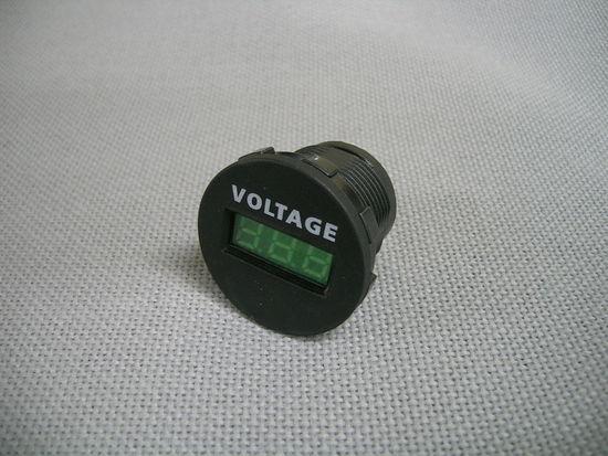 キャンピングカー用品 時間指定不可 LEDデジタル DC ボルトメーター 電圧計 パーツ レビューを書けば送料当店負担 DIY カスタム 車用