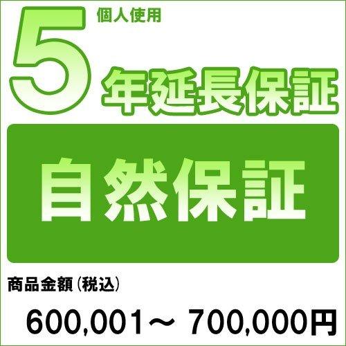 【対象商品のみ】個人5年延長保証(自然故障)商品金額 税込600,001円~700,000円用(99990003-70)