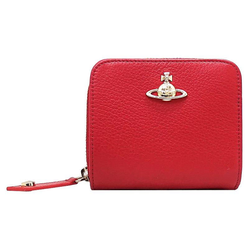 ヴィヴィアンウエストウッド 財布 二折り財布 51080020-40212 H401 Red 赤 箱付き BALMORAL【沖縄・離島は送料無料対象外】 (6029930)