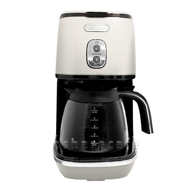 デロンギ コーヒーメーカー ICMI011J-W ピュアホワイト【ドリップコーヒーメーカー】【沖縄・離島は送料無料対象外】DELONGHI (6024300)