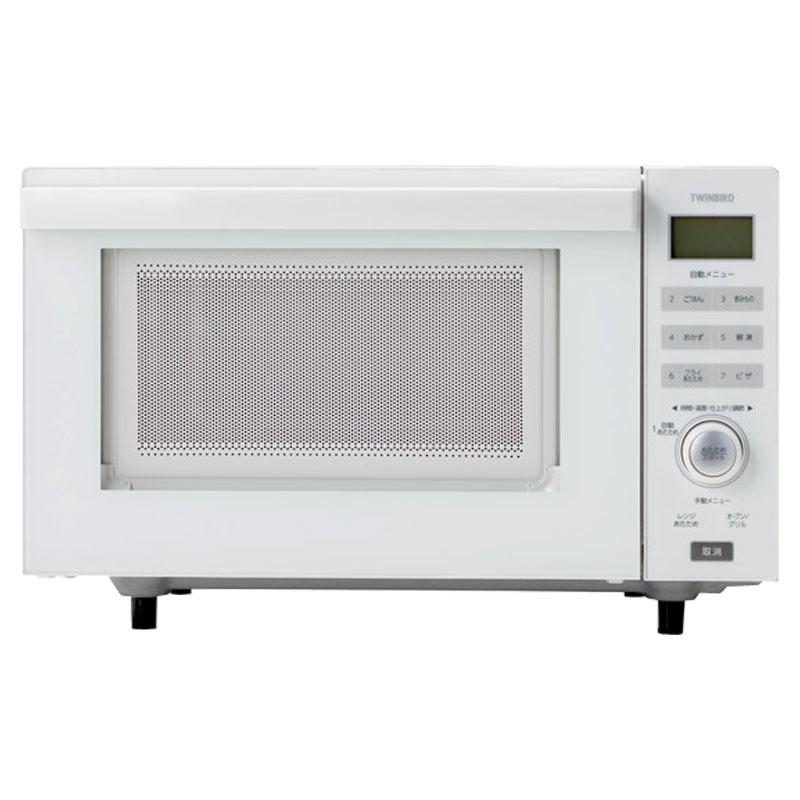 ツインバード センサー付フラットオーブンレンジ DR-E852W ホワイト【沖縄・離島は送料無料対象外】 (6029288)
