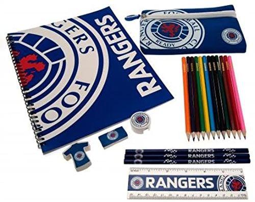 スコットランド 値下げ グラスゴー レンジャーズ ジャンボ ステーショナリー20点 セット アウトレット☆送料無料 色鉛筆以外それぞれに 超お買い得 ファンは大喜び 20点 ロゴ 大好きな人ヘ ジャンボステーショナリー20点 セットで