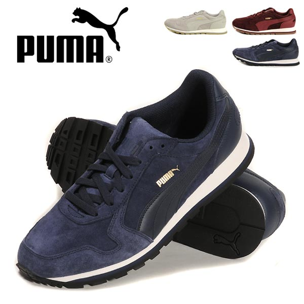 PUMA ST RUNNER SD puma shoes low cut sneakers suede men's men's 359128 shoes  shoes lace string thong running sports movement drizzle Cabernet peacoat  26.0 ...
